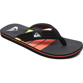 Quiksilver Molokai Layback Sandalen Heren, black/grey/yellow